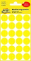 Kulaté etikety etikety Avery Zweckform - žluté, průměr 18 mm, 96 ks