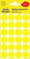 Samolepicí kulaté etikety Avery Zweckform - žlutá, průměr 18 mm, 96 ks