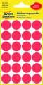 Kulaté etikety etikety Avery Zweckform - červené, průměr 18 mm, 96 ks