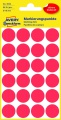 Samolepicí kulaté etikety Avery Zweckform - červená, průměr 18 mm, 96 ks