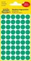 Samolepicí kulaté etikety Avery - zelené, průměr 12 mm, 270 ks