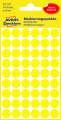 Samolepicí kulaté etikety Avery - žluté, průměr 12 mm, 270 ks