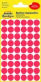 Kulaté etikety Avery Zweckform - červené, průměr 12 mm, 270 ks
