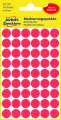 Samolepicí kulaté etikety Avery - červené, průměr 12 mm, 270 ks