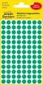 Kulaté etikety Avery Zweckform - zelené, průměr 8 mm, 416 ks