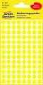 Kulaté etikety Avery Zweckform - žluté, průměr 8 mm, 416 ks