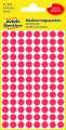 Kulaté etikety Avery Zweckform - červené, průměr 8 mm, 416 ks