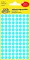 Kulaté etikety Avery Zweckform - modré, průměr 8 mm, 416 ks