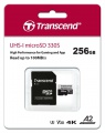 TRANSCEND Micro SDXC 330S 256GB UHS-I U3 A2, s adaptérem