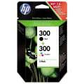 Cartridge HP CN637EE, č. 300 sada - černá , 3 barvy