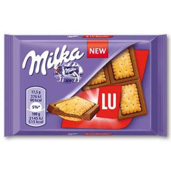 Sušenky s čokoládou Milka LU - 35 g