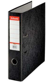 Pákový pořadač Esselte - A4, kartonový, hřbet 7,5 cm, černý