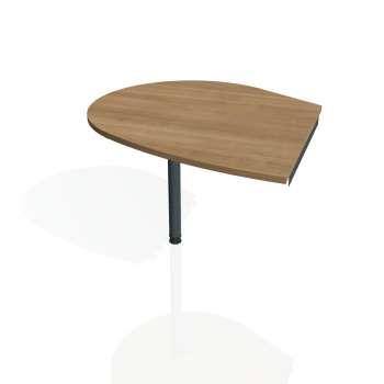 Přídavný stůl Hobis GATE GP 20 levý, višeň/kov