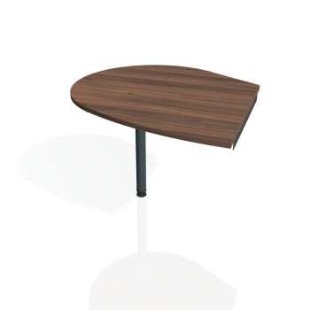 Přídavný stůl Hobis GATE GP 20 levý, ořech/kov