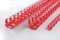 Hřbety plastové GBC 8 mm, červené, 100 ks