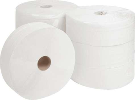 Toaletní papír Jumbo - dvouvrstvý, průměr 28 cm, 6 rolí