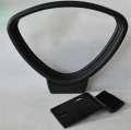 Pevné područky k židli Realspace Jura - černé, 2 ks