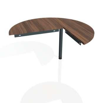 Přídavný stůl Hobis GATE GP 22 levý, ořech/kov