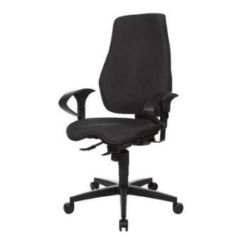 Kancelářská židle Eiger, SY - synchro, černá