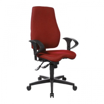Kancelářská židle Realspace Pro Eiger synchronní - červená