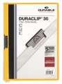 Desky s klipem DURACLIP 30, A4 žluté