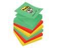 Poznámkové samolepicí Z-bločky Post-it Super Sticky Marrákeš - 7,6 x 7, 6 cm, 5 barev, 6 x 90 ks