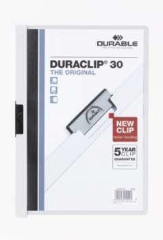 Desky s klipem DURACLIP 30, A4 bílá