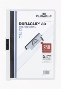 Desky s klipem DURACLIP 30, A4 bílé