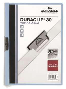 Desky s klipem DURACLIP 30, A4 světle modré
