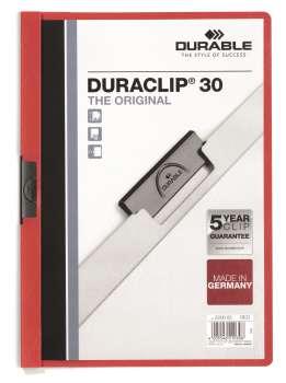 Desky s klipem DURACLIP 30, A4 červená