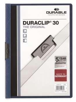 Desky s klipem DURACLIP 30, A4 tmavě modrá