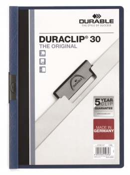 Desky s klipem DURACLIP 30, A4 tmavě modré
