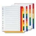 Plastový rozlišovač Office Depot - A4, bílý s barevným okrajem, 12 listů