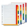 Rozlišovač Office Depot A4 plastový, vícebarevný, 10 listů