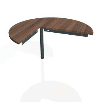 Přídavný stůl Hobis GATE GP 22 pravý, ořech/kov