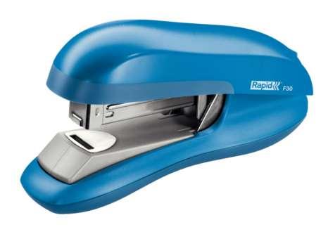 Sešívačka Rapid F30 - s plochým sešíváním, světle modrá