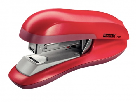 Sešívačka Rapid F30 s plochým sešíváním, červená