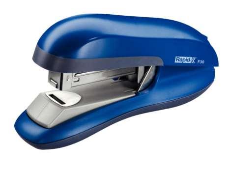 Sešívačka Rapid F30 s plochým sešíváním, modrá