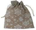 Dárkový látkový sáček - přírodní, 25 x 20 cm