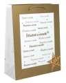 Dárková taška - zlaté písmo, střední, 18 x 22,5 cm