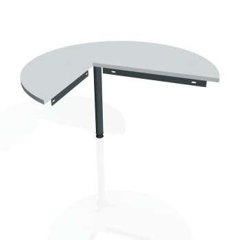 Přídavný stůl Hobis GATE GP 22 pravý, šedá/kov