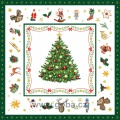 Vánoční ubrousky Stromek