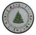 Plechový dekorační talíř - Stromek, 33 cm