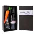 Dárková kazeta s vínem a produkty na stavění sněhuláka
