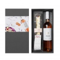 Dárková kazeta sladkých delikates s vínem