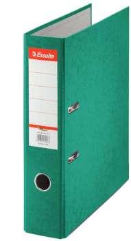 Pákový pořadač Esselte - A4, kartonový, hřbet 7,5 cm, zelená