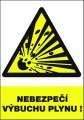 Výstražná tabulka Nebezpečí výbuchu plynu! - plastová
