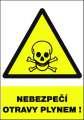 Výstražná tabulka Nebezpečí otravy plynem! - plastová