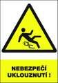Výstražná tabulka Nebezpečí uklouznutí! - plastová