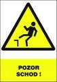 Výstražná tabulka Pozor schod! - plastová